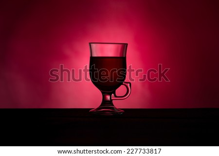 Hot wine for winter and Christmas - stock photo