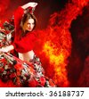 Hot woman dancer - stock photo