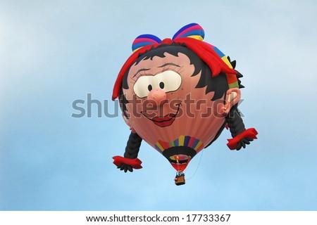 hotair balloon face - stock photo