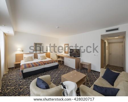 Hotel apartment room - stock photo