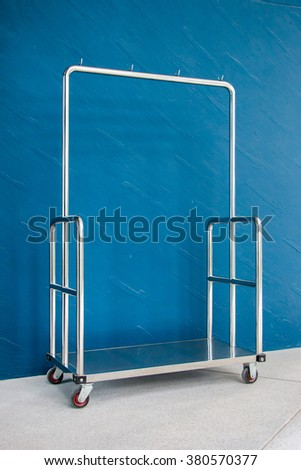 Hotel Baggage Trolley - stock photo