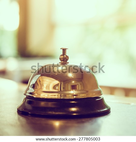 Hotel bell - vintage filter - stock photo