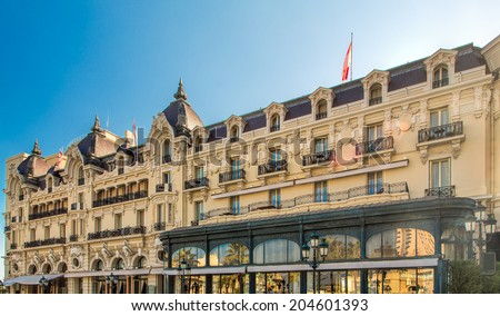 Hotel de Paris. Monte Carlo - stock photo