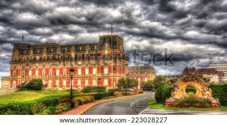 Hotel du Palais in Biarritz - France, Aquitaine - stock photo
