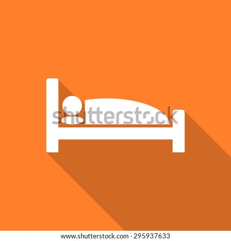 hotel flat design modern icon with long shadow for web and mobile app  - stock photo