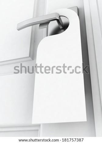 Hotel hanger. 3d illustration on white background  - stock photo