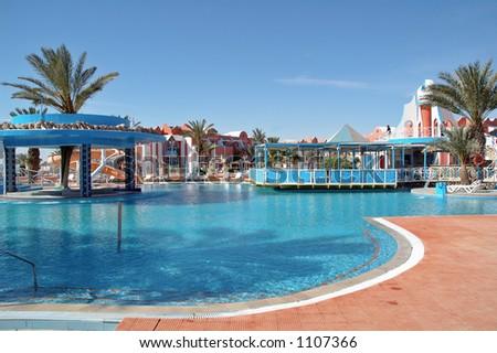Hotel in Djerba - stock photo