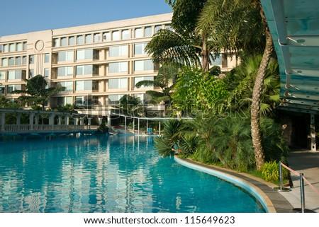 hotel in kunming,china - stock photo