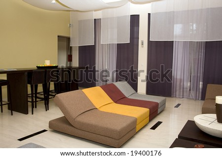 hotel interior - stock photo
