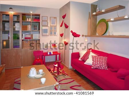 hotel interior - stock photo
