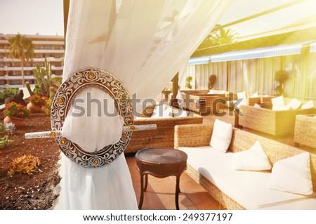 Hotel lounge - stock photo
