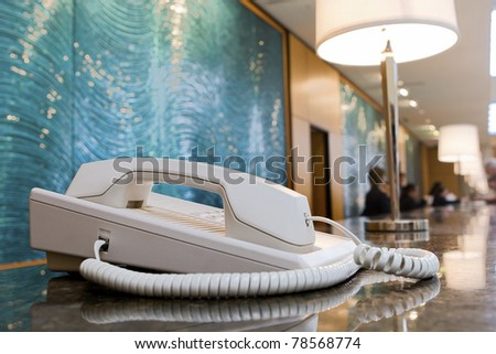 Hotel phone - stock photo