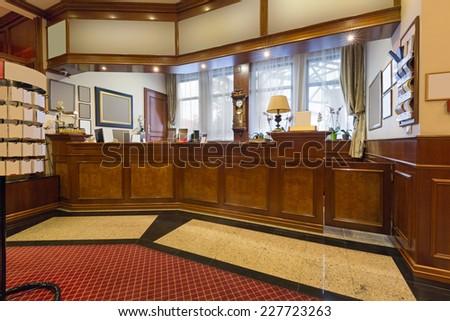 Hotel reception area - stock photo