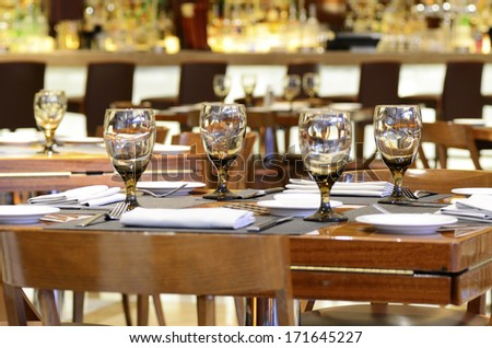 Hotel restaurant dining concept of food and entertainment - stock photo