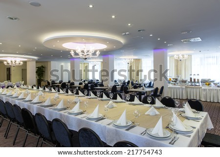 Hotel restaurant interior - stock photo