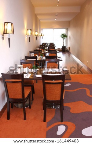 hotel restourant interior - stock photo