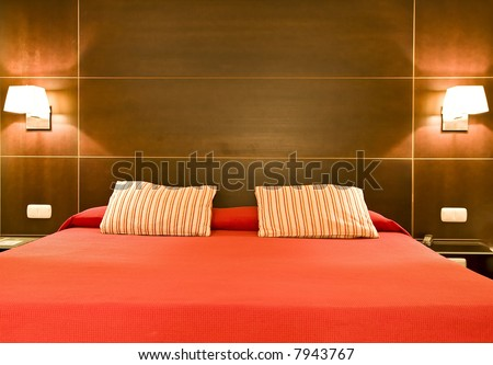 Hotel room detail - stock photo