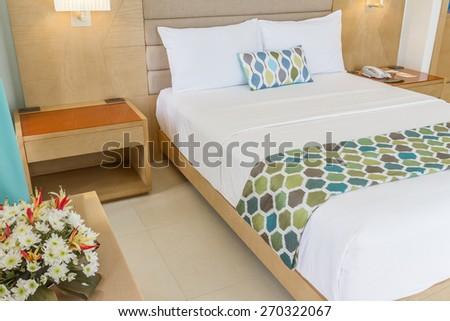 hotel room interior - stock photo