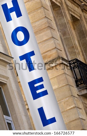 Hotel sign in France - stock photo