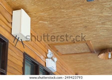 Hotel Wi-Fi signal box - stock photo