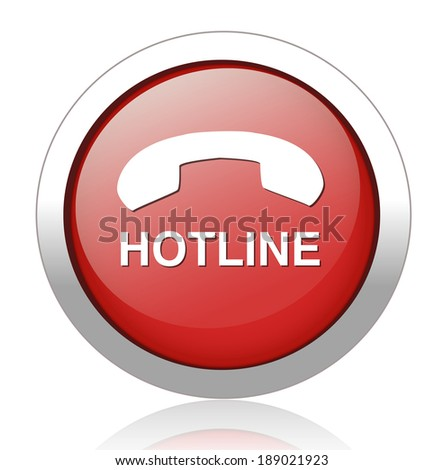 hotline button - stock photo