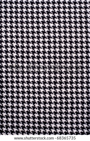 Houndstooth fabric pattern. - stock photo