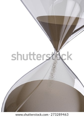 Hourglass. 3D. Sands of Time - stock photo