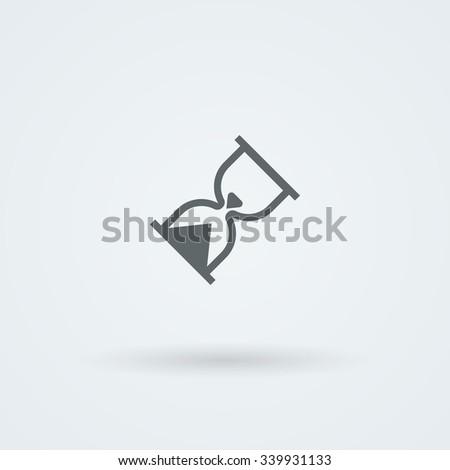 Hourglass icon. Time pictogram. Logo. Pictogram. Button. - stock photo