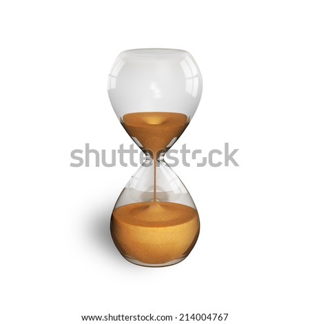 hourglass isolated on white - stock photo