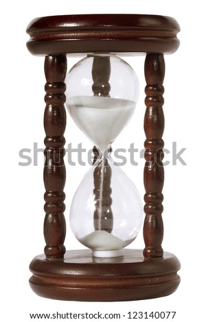 Hourglass isolated on white background - stock photo