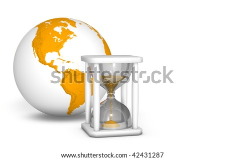 Hourglass measuring the time out - stock photo