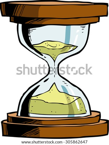 Hourglass on a white background raster version - stock photo