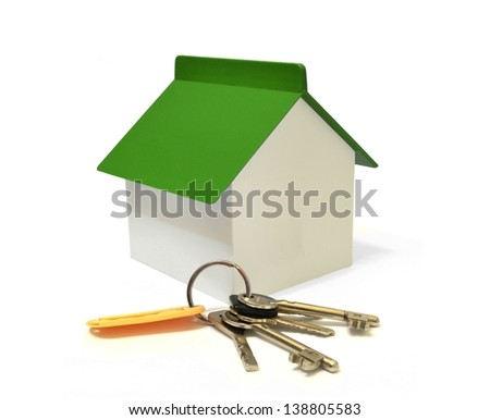 House and a bunch of keys - stock photo