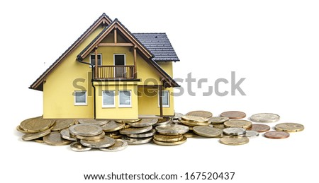 House and money - stock photo