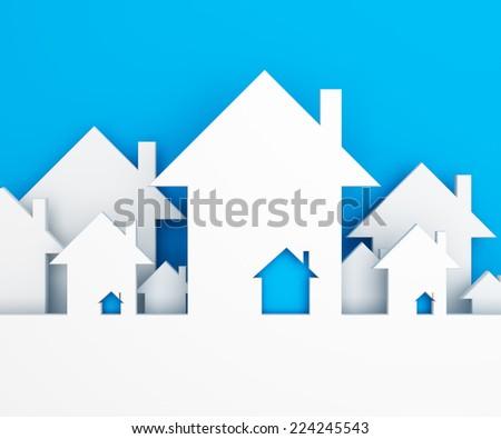 House background - stock photo