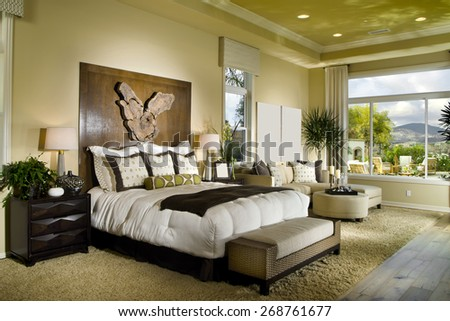 House Bed Room Interior Design Home - stock photo