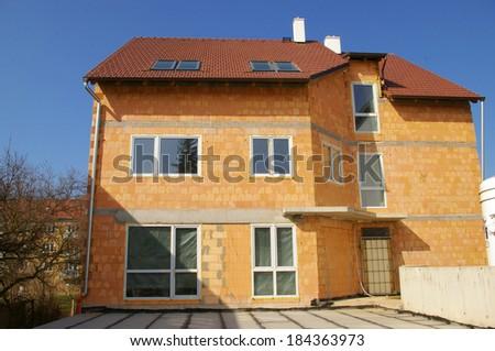 House before finishing - stock photo