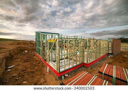 House being built - stock photo