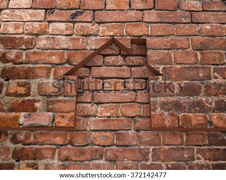 House bricks background - stock photo