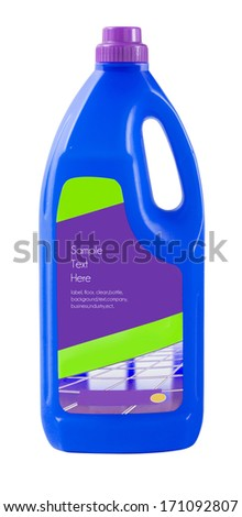 house cleaning product packaging - stock photo