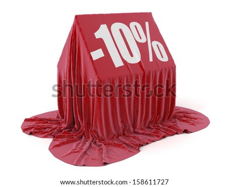 House -10% (clipping path included) - stock photo