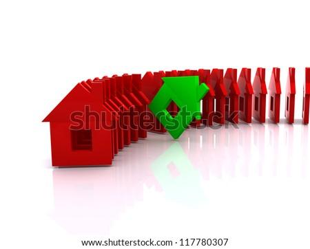 House Concept 3d - stock photo