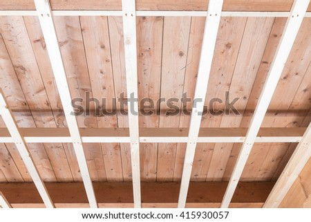 House construction renovation and repair using modern materials and building techniques / House renovation and construction - stock photo