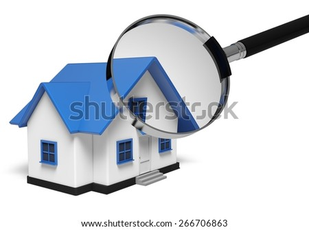 House. 3D. House Hunting - stock photo
