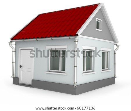 House. 3d image isolated on white background. - stock photo