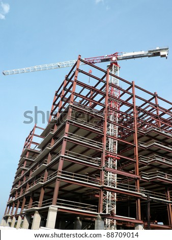 house develop at dry sunny day - stock photo