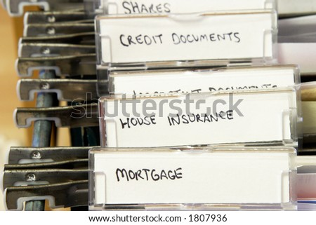 House documents - stock photo