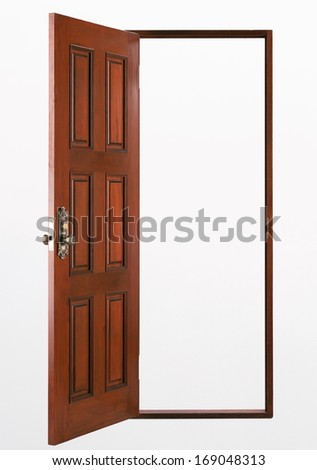House door made from wood  - stock photo