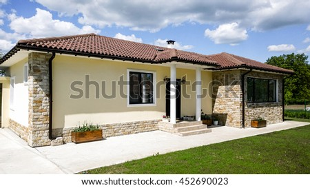 house exterior - stock photo