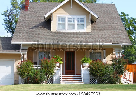 House for one family - stock photo
